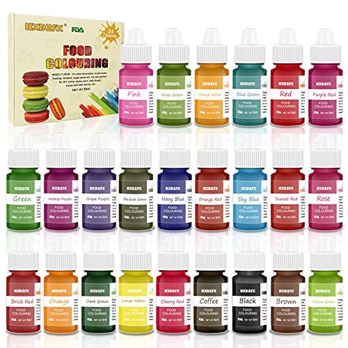 Colorant alimentaire liquide concentré Nourriture Dye 24 couleurs