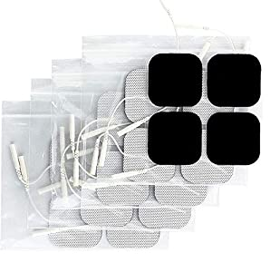 """TENS unit pads replacement electrodes; Syrtenty cares about the comfort of your TENS therapy; We designed our 2"""" x 2"""" square shape electrodes to provide professional quality at an incredible value; these tens pads replacements are for muscle stimulat..."""