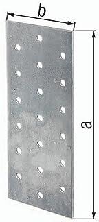 GAH Chapa perforada EN 14545:2009-2 160x40mm Acero en bruto Sendzimir galvanizado GAH