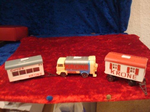 Circus Krone, 1 Müllwagen und 2 Wohnwagen, 1:87