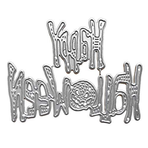 Valcano Happy Halloween Stanzformen Metall Stanzform Stanzform für Karten Stanzschablone für DIY Handwerk Geschenk Scrapbooking Vorlagen Foto Album Dekoration