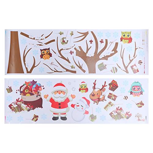 SUPVOX 1 unid adhesivo de pared de navidad decoración autoadhesiva de pared...