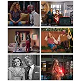 WandaVision - Set of 6 (8 inches x 10 inches) Elizabeth Olsen as Wanda Maximoff Paul Bettany as Vision