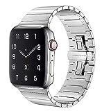 AIYIRUO Compatible con Correa Apple Watch 44mm 42mm 40mm 38mm, Pulsera de Metal con Banda de Repuesto de Acero Inoxidable para iWatch Series SE/6/5/4/3/2/1, Correa de Metal para Apple Watch