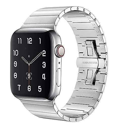 AIYIRUO Compatibile con Cinturino Apple Watch 44mm 42mm 40mm 38mm,di Ricambio in Acciaio...