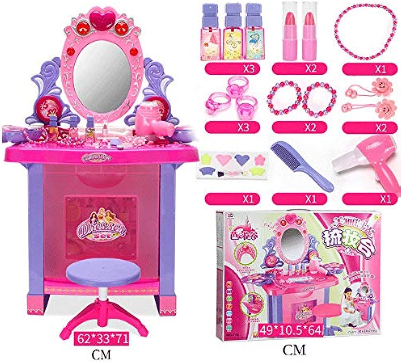ZaiQu Spielen Sie Spielzeug Kinder Schminktisch Mdchen verkleiden Sich Mrchen Traum Prinzessin Musik Schminktisch Set Simulation Baby Mdchen Geburtstagsgeschenk (gre   E)
