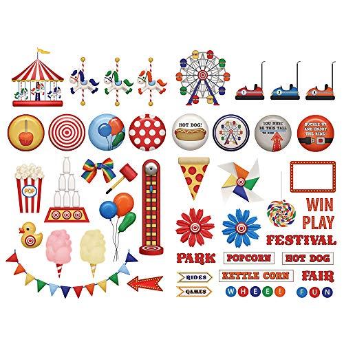 Seasonstorm Amusement Park Kawaii Aesthetic Happy Planner Diary Journal Stationery Scrapbooking Stickers Travel Art Supplies
