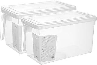 Boîte de rangement pour réfrigérateur,boîte de rangement empilable avec couvercle,boîte de rangement pour fruits et légume...