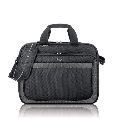 Solo New York CLA103-4 Pro 15.6 Inch Laptop Slim Brief, Black