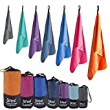 Sfee Microfiber Sport Travel Towel Set -(S M L XL)-Quick Dry Absorbent Compact Lightweight Soft Beach Yoga Bath Pool Hand Gym Golf Towels-Fit for Outdoors Fitness Camping +Carabiner