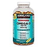 Kirkland Omega-3 Fish Oil 1000mg 300 Softgels