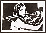 Poster Kill Bill Beatrix Kiddo Grafiti Hecho a Mano - Handmade Street Art - Artwork