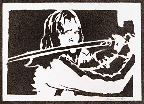 Poster Kill Bill Affiche Beatrix Kiddo Handmade Graffiti Street Art - Artwork