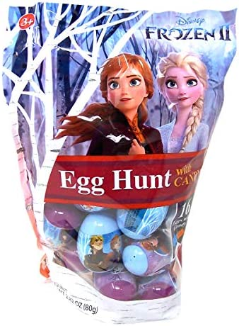 Disney Frozen 2 Plastic Candy Filled Easter Eggs 16 Count 2 82 Ounce product image