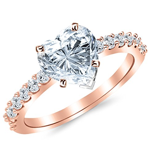 1.14 Ct Heart Diamond - 4