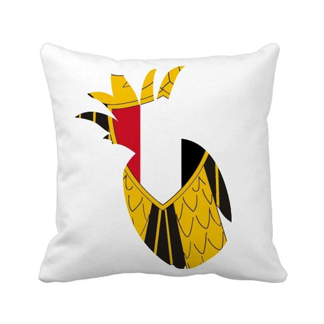 バケット施設制裁エジプトの国章の国 パイナップル枕カバー正方形を投げる 50cm x 50cm