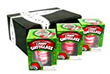 Peppermint Candy Cane Edible New Years Shot Glasses, 1.76 oz Packages in a BlackTie Box (Pack of 3)
