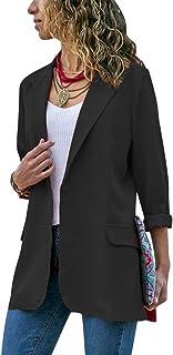 Women Long Blazer Coat Cardigan Casual Slim Fit Open Front Suit Jacket Outwear