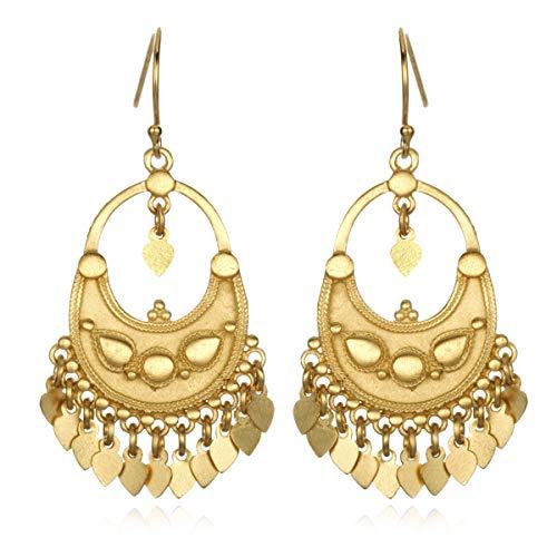 Satya Jewelry Classics Gold-Plated Petal Chandelier Earrings