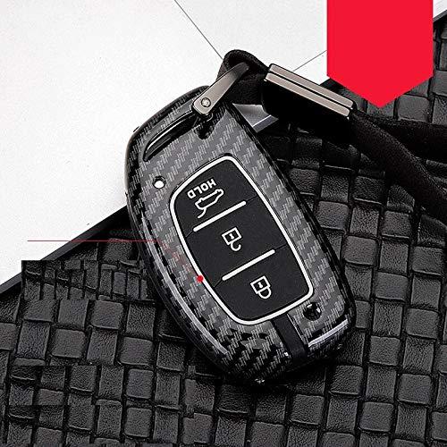 Carbon Fiber Alloy+Silicone Car Remote Smart Key Case Fob Cover For Hyundai i10 i20 i30 HB20 IX25 IX35 IX45 Key Car...