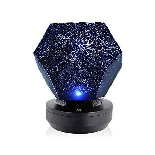 Decoración de la etapa Luces azules Proyector Estrella Proyección Lámpara Mini Proyector Portátil para la Etapa del partido