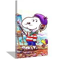 スヌーピーアニメかわいいキャンバス絵画アートポスター寝室の装飾ポスター子供部屋の装飾ポスター絵画家の装飾30x45cm(12x18inch)内枠ポスターB