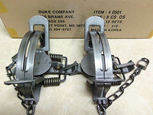 2 Duke #3 CS Offset Traps Coyote Bobcat 0501
