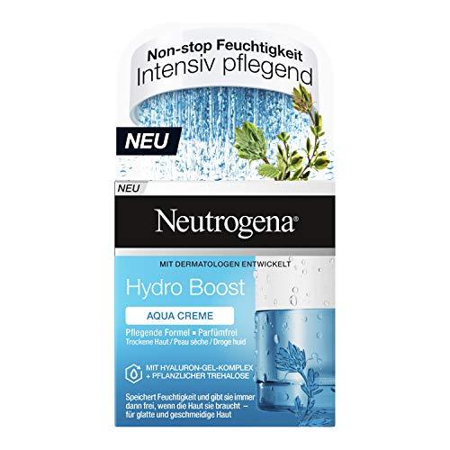 Neutrogena Hydro Boost Aqua Creme (50ml) - Feuchtigkeitsspendende Gesichtspflege mit Hyaluron und pflanzlicher Trehalose - öl- und parfümfreie Feuchtigkeitscreme für trockene Haut