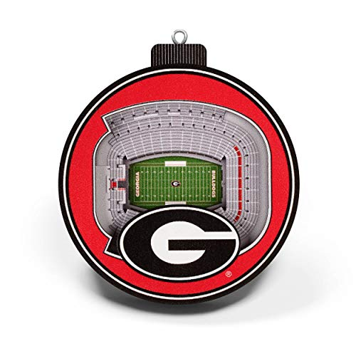 YouTheFan NCAA Georgia Bulldogs 3D StadiumView Ornament - Sanford Stadium