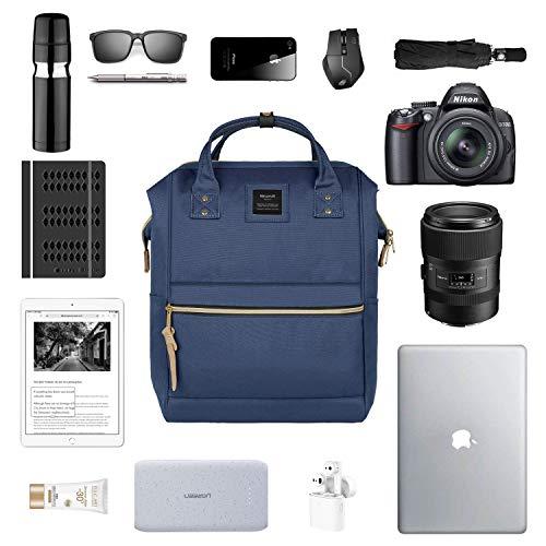 Hethrone Laptop Backpack 15.6 Inch Water Resistant School Backpack Wide Open Travel Work Rucksack Bag Casual Daypack for Women Men (Navy -2)