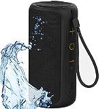 Aneerx Portable Bluetooth Speakers IPX7 Waterproof Dustproof Dual Drivers & Rich Enhanced Deep Bass, Built in Mic for Hands free Calling, Surround Outdoor Loud Wireless Speaker, 360 Sound Home, Shower