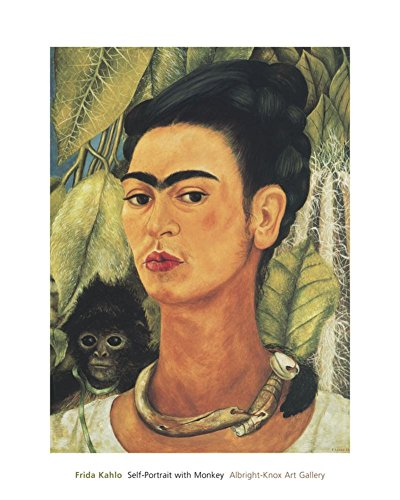 Self-Portrait with Monkey, 1938 von Frida Kahlo Kunstdruck