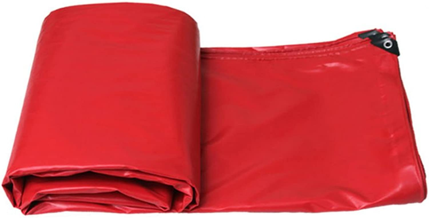 Rainproof Cloth Sunshade Cloth Outdoor Canvas Thick Tarpaulin (color   RED, Size   3  2m)