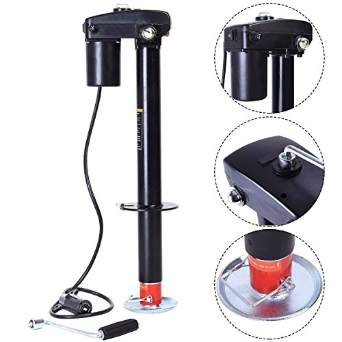 Goplus 12V 3500 lb Capacity Electric Power Tongue Jack RV Boat Jet Ski A-Frame Trailer Camper