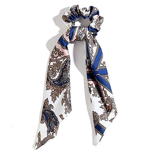 NoraHarry Accessoires de Mode Cheveux Longs écharpe Rubans Scrunchie for Les Femmes Bow Tie élastique Queue de Cheval Titulaire Fille Bandeaux (Color
