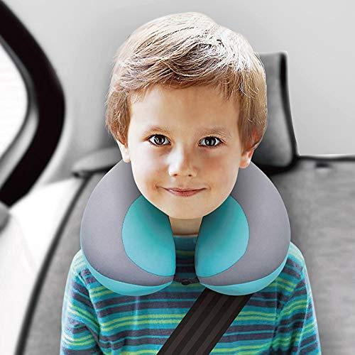 Baby Pillow for Car Seat Kids U-Shape Travel Neck Pillow Support Children Stroller Pillow Blue