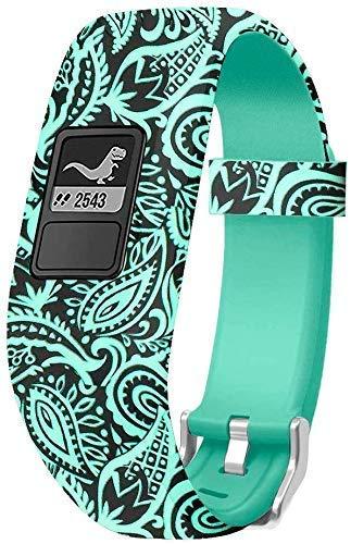 Watchbands Compatible for Garmin Vivofit Band Vivofit 3 JR/Vivofit JR 2 Bands Accessories Replacement Bands for Kids Girls Boys Women with Metal Secure Clasp Watch Strap for Garmin Vivofit 3