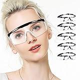 5 Pcs Gafas Proteccion, LETOUR Gafas de Seguridad Protección UV Para los ojos, Lentes Transparentes Antivaho Antiinfección, Protección Contra Salpicaduras de 360 Grados
