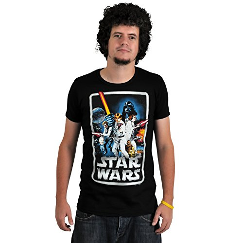 Toutchlines, Star Wars - Poster Logoshirt T-Shirt Black, XL