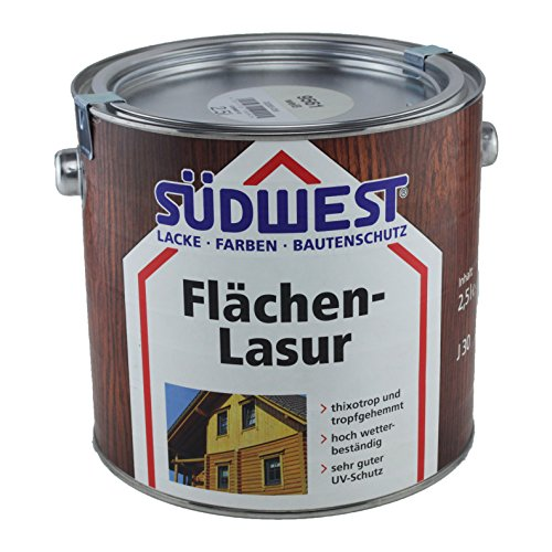 Südwest Flächen-Lasur thixotrop hoch wetterbeständig Farbton wählbar 2,5 Liter, Südwest :8923 Palisander