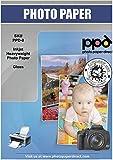 PPD A4 x 50 Hojas de Papel Fotográfico Brillante - Gramaje de 260 g/m² y Secado Instantáneo - Para Impresora de Inyección de Tinta Inkjet - PPD-8-50