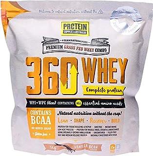 Protein Supplies Australia 360 Whey WPI+WPC Combo Complete Protein Powder 1 kg Vanilla Bean,, Vanilla 1 kilograms