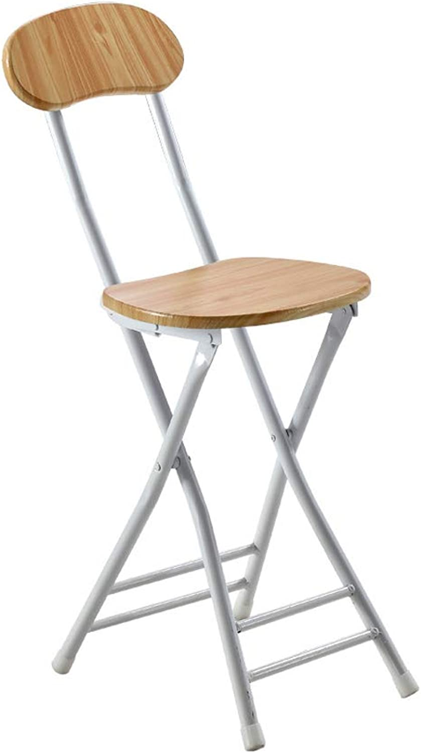 Dining Chair Home Change shoes Chair Back Chair Folding Chair Small Round Stool Meeting Chair Simple Fashion Portable Adult Wood Grain Back Folding Dining Chair