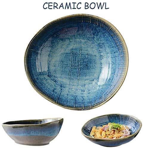 Wan Keramikschale, Salatschüssel Retro Keramik Salat Schüssel Keramik Westliche Suppenschüssel Japanischer Stil Ramen Bowl Schale Schüssel (Size : 4 inches)