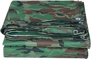 Camouflage Tarpaulin Waterproof PVC Rainproof Shading Cloth Outdoor Tent Trailer Oxford Canvas Tarp Heavy Duty Sheet Covers, 420g/m² F-SHUI (Size : 3x4M)