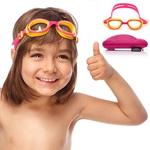 SwimElite Gafas de natación para niños y niñas, para niños de 2 a 8 años de Edad, Rosado