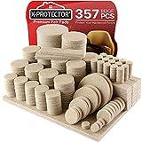 Almohadillas de fieltro para muebles X-PROTECTOR – 357 gran paquete de almohadillas para patas de muebles – Las mejores almohadillas para muebles para suelos de madera dura