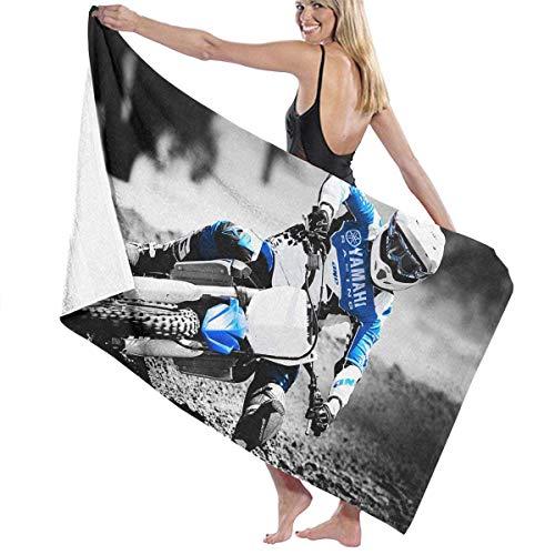 Einst Motocross Motorcycles Badetuch für Erwachsene, Mikrofaser, Oversize, 79 x 130 cm, schnelltrocknend, sehr saugfähig, vielseitig einsetzbar, Pareo für Damen und Herren