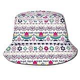 Sombrero Mexicano Sombrero Bigote Bigote Unisex Bucket Hat Sombreros de Pescador Verano Reversible Packable Cap Mujeres Hombres Niña Niño