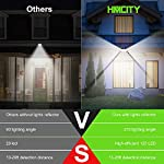 Solar Lights Outdoor 120 LED with Lights Reflector,Solar Motion Sensor Security Lights, IP65 Waterproof Solar Powered Wireless Wall Lights for Garden Patio Yard Deck Garage Fence Pool(2 Pack) Bullet Selling Points